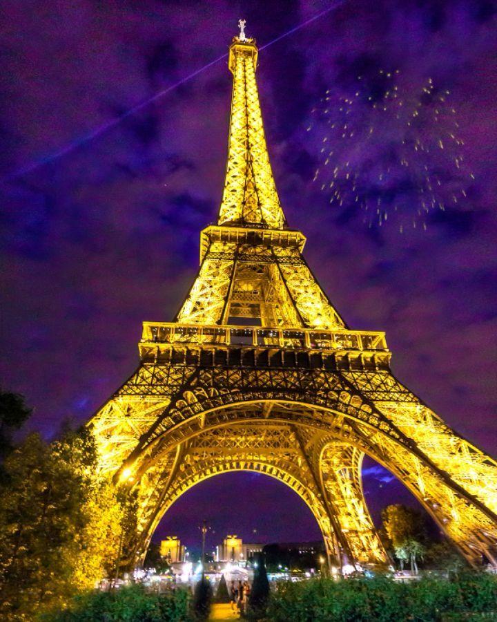 underneath the twinkling lights of the eiffel tower eiffeltower